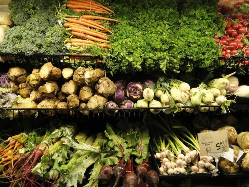 Nhiều vitamin và canxi có trong các loại rau xanh